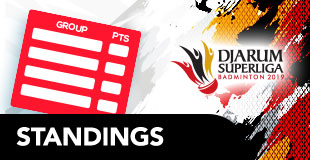 Djarum Superliga Badminton - Standings