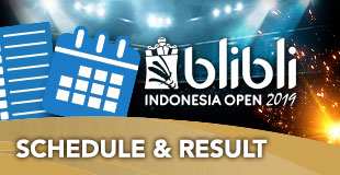 Schedule - Indonesia Open 2019