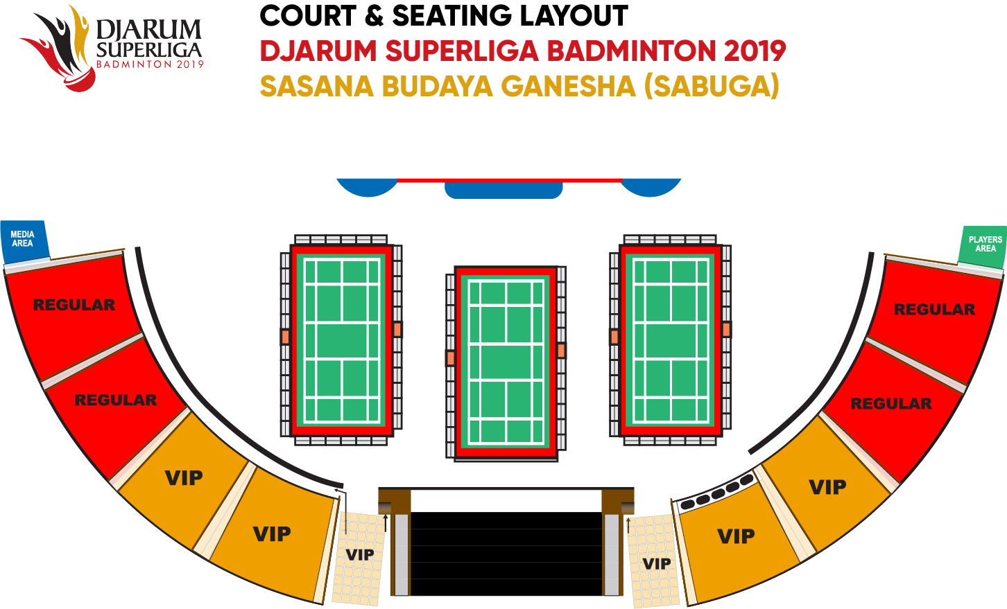 Djarum Superliga Badminton 2019 - Seat Layout