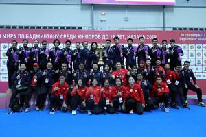 Tim junior Indonesia pada World Junior Championships 2019.