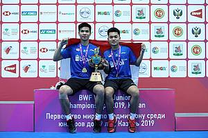 Leo Rolly Carnando/Daniel Marthin (Indonesia) juara World Junior Championships 2019.