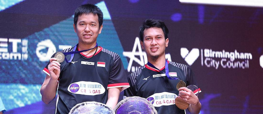 Hendra Setiawan/Mohammad Ahsan (Indonesia) juara ganda putra All England 2019 BWF World Tour Super 1000.