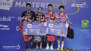 Adnan Maulana/Mychelle Crhystine Bandaso (Indonesia) runner up Yuzu Indonesia Masters 2019 BWF Tour Super 100.