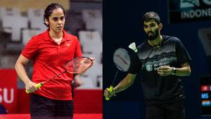 Saina Nehwal dan Kidambi Srikanth (India).
