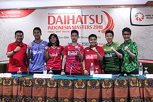 Narasumber Press Conference Indonesia Masters 2018