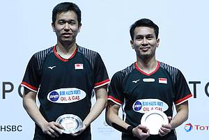 Hendra Setiawan/Mohammad Ahsan (Indonesia) juara New Zealand Open 2019 BWF World Tour Super 300.