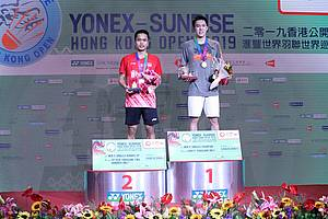 Anthony Sinisuka Ginting (Indonesia) keluar sebagai runner up Hong Kong Open 2019 BWF World Tour Super 500.