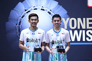 Fajar Alfian/Muhammad Rian Ardianto (Indonesia) juara Swiss Open 2019 BWF World Tour Super 300.
