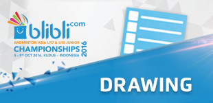 Drawing of Blibli.com Badminton Asia U17 & U15 Junior Championships 2016