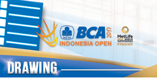 BCA Indonesia Open Superseries Premier 2017 - Drawing
