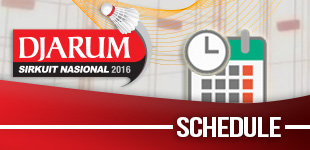 Djarum Sirnas 2016 - Schedule