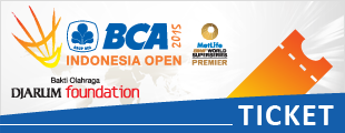 BCA Indonesia Open 2015 Ticket