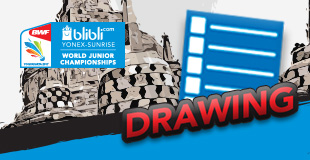Blibli.com BWF World Junior Championships 2017 - Drawing