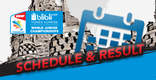 Blibli.com BWF World Junior Championships 2017 - Schedule & Result
