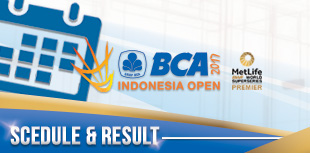 BCA Indonesia Open Superseries Premier 2017 - Schedule and Result
