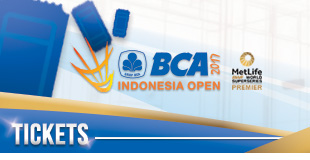 BCA Indonesia Open Superseries Premier 2017 - Tickets
