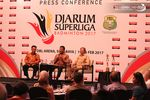 Suasana Press Conference Djarum Superliga Badminton 2017