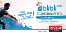 Live Streaming Blibli.com Badminton Asia U17 & U15 Junior Championships 2016