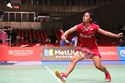 Gregoria Mariska Saat Bertanding di Japan Open Superseries 2017. (Foto: PBSI)