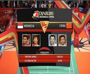 Tantowi Ahmad/Liliyana Natsir (INA) VS Chen Xu/Jin Ma (China) Mix Double Semifinal Djarum Indonesia Open Super Series Premier 2012