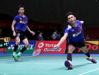 (Japan Open Superseries 2017) Fajar/Rian Terhenti