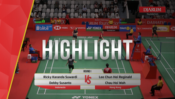 Ricky Karanda Suwardi/Debby Susanto (Indonesia) VS Lee Chun Hei Reginald/Chau Hoi Wah (Hong Kong)