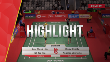 Rinov Rivaldy/Angelica Wiratama (Indonesia) VS Law Cheuk Him/Ng Tsz Yau (Hongkong)