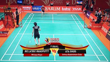 Bellatrix Manuputty (PB JAYA RAYA) VS Aya Ohori (UNISYS) DJARUM SUPERLIGA 2013