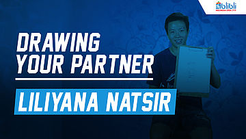 Drawing Your Partner with Liliyana Natsir at Blibli Indonesia Open 2018