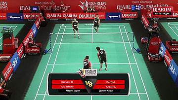 Berry A/Andrei A (Djarum Kudus) VS Kazuaki O/Yuki U (Hitachi Japan)