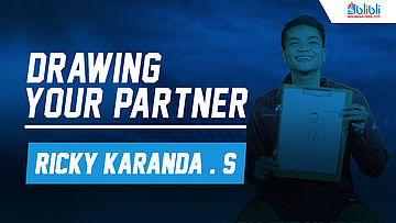 Drawing Your Partner with Ricky Karanda Suwardi at Blibli Indonesia Open 2018