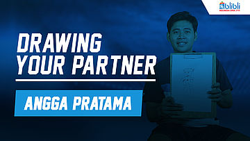 Drawing Your Partner with Angga Pratama at Blibli Indonesia Open 2018