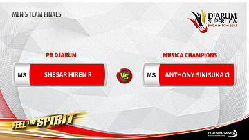 Men's Team - Finals MS3 - Anthony Sinisuka Ginting (MUSICA CHAMPIONS) vs Shesar Hiren Rhustavito (PB DJARUM)