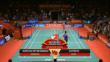 Dionysius Hayom Rumbaka (INDONESIA) VS Du Pengyu (CHINA) Djarum Indonesia Open 2013