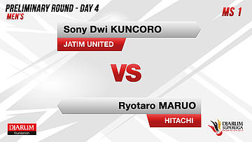 MS1 | SONY DWI KUNCORO (JATIM UNITED) VS RYOTARO MARUO (HITACHI JAPAN)