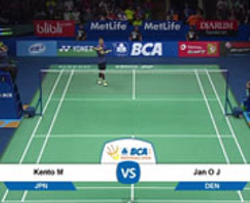 Kento Momota (JAPAN) VS Jan O Jorgensen (DENMARK)