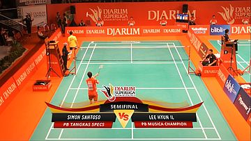 Simon Santoso (PB TANGKAS SPECS) VS Lee Hyun IL (PB MUSICA CHAMPION) DJARUM SUPERLIGA 2013