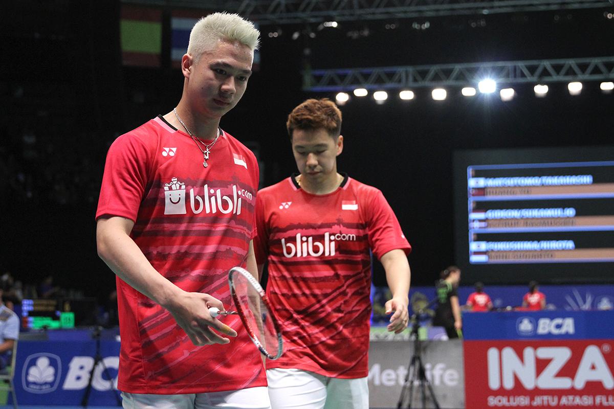 Djarum Badminton Marcus Kevin Lost e Tar Is Down