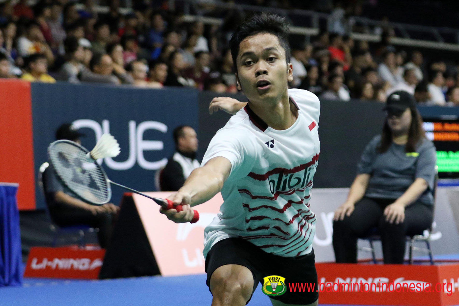 Djarum Badminton Singapore Open 2017 Anthony Susul Langkah