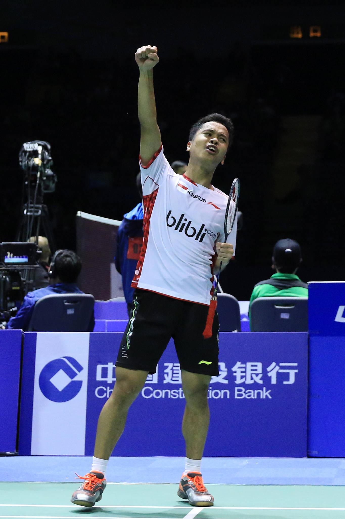 Djarum Badminton Piala Thomas dan Uber 2016 Anthony Tampil Perkasa