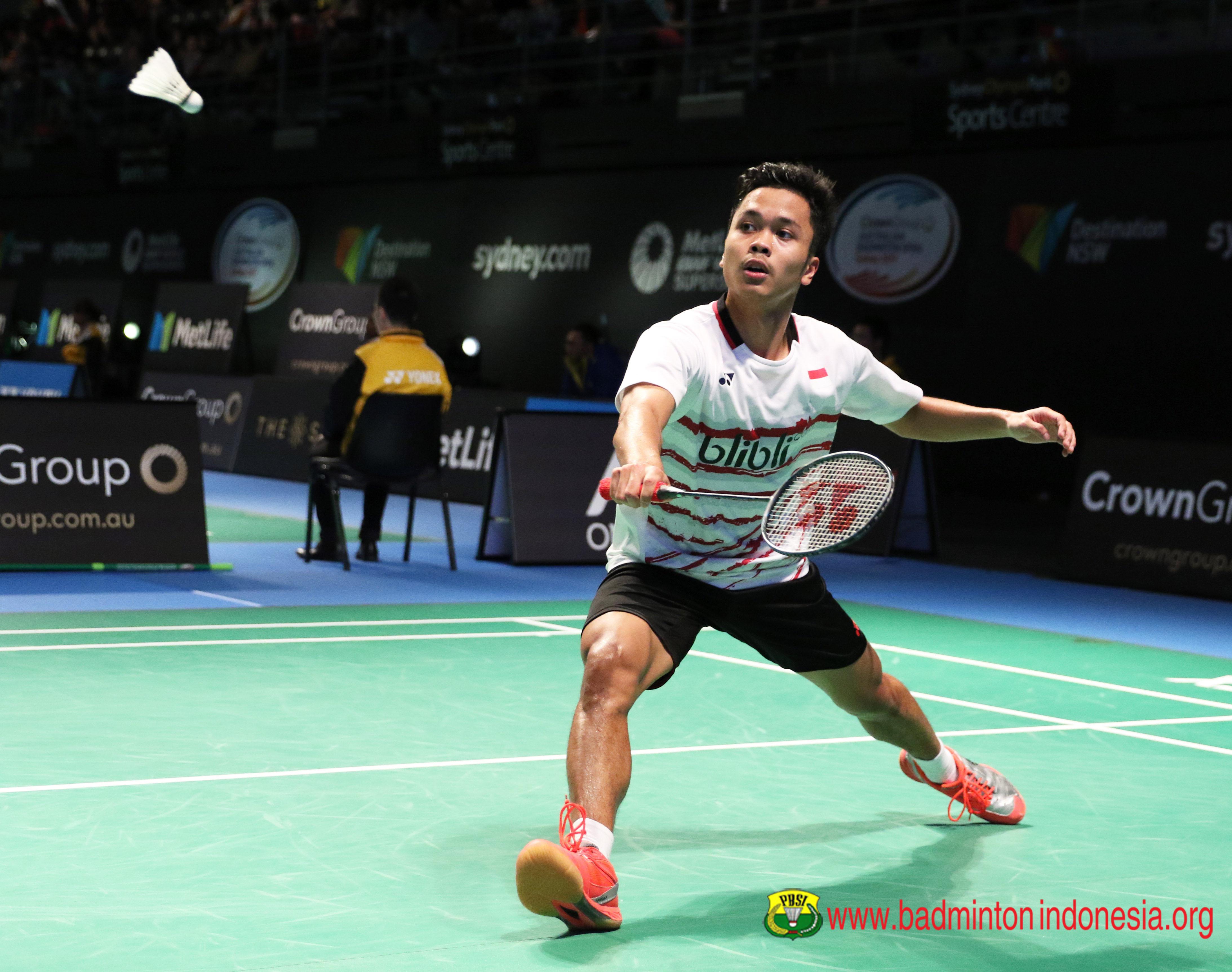 Djarum Badminton Australia Open 2017 Anthony Belum Berhasil ke