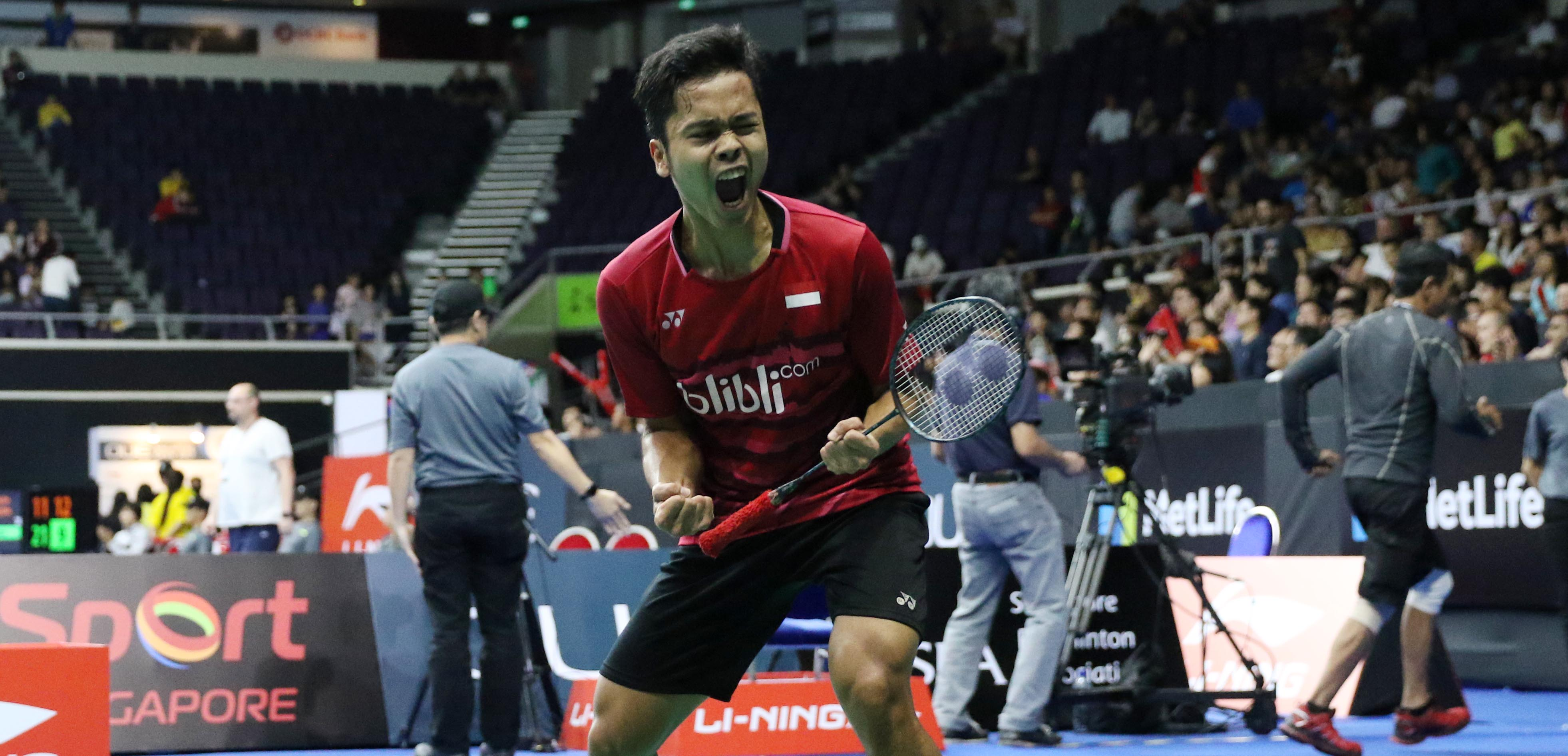 Djarum Badminton Singapore Open 2017 Anthony Raih Tiket Semifinal