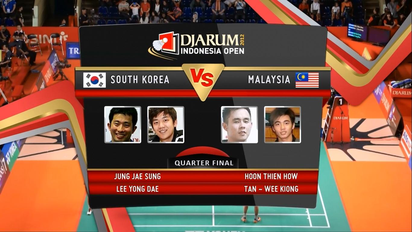 Djarum Badminton Video Jung Jae Sung Lee Yong Dae South Korea